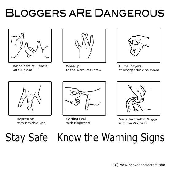 Blogging Gang Signs