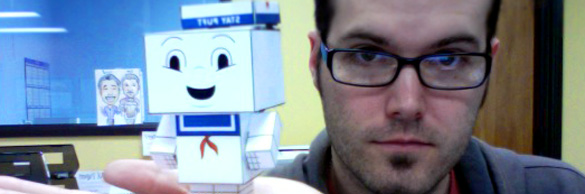 Cubeecraft Luke Hodsdon Stay Puft Hard at work. Churm Media.