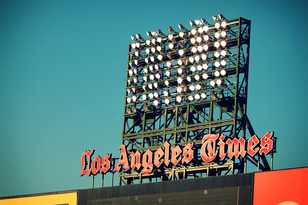 los-angeles-times-ballpark-sign