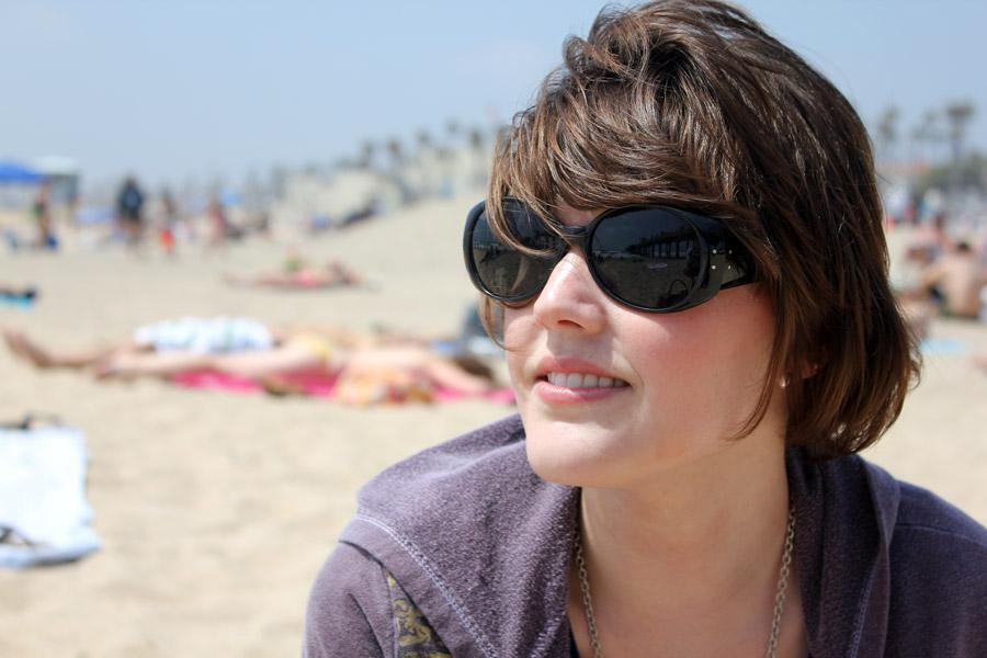 Kristen Schott at the Huntington Beach pier