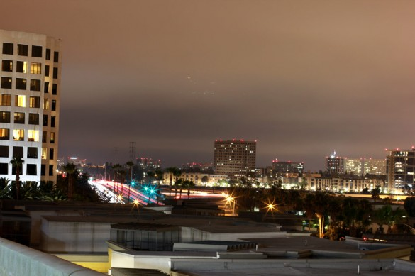 Long exposure Irvine rooftop skyline