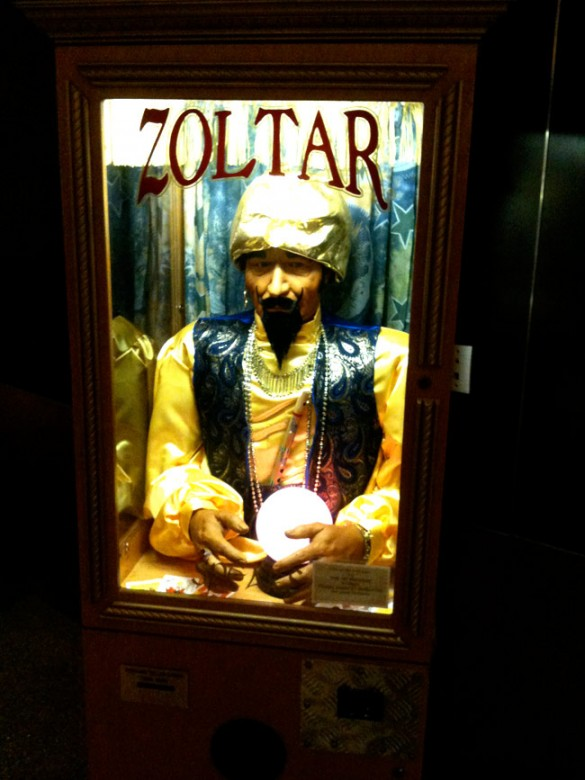 Zoltar the fortune teller from the movie &quot;Big&quot; with Tom Hanks