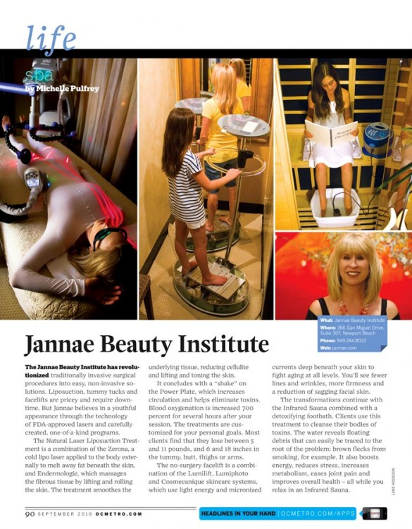 Portfolio Quark OCMETRO Jannae Beauty Institute Spa Layout