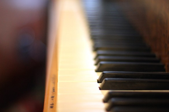 Depth of Field Piano Keys