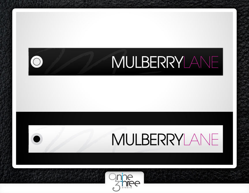 Mulberry Lane, hang tag design